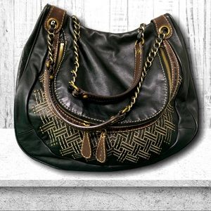 HOBO Leather Chain Strap Bag